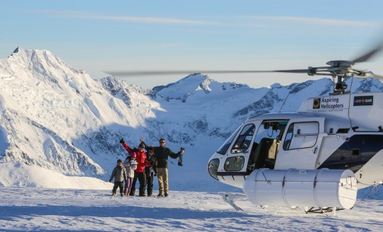 Helicopter scenic image luxury lodge