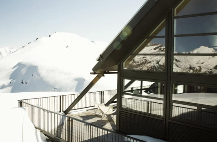 luxury lodge wanaka Whare Kea Chalet Winter